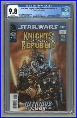 Star Wars Knights of the Old Republic #0 1st Malak as Squint Revan Cameo CGC 9.8
