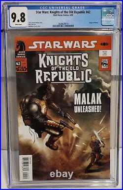 Star Wars Knights of the Old Republic #42 (2009, Dark Horse) CGC 9.8 NM/MT Revan