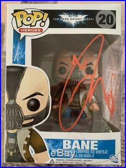 TOM HARDY Signed Funko Pop! Bane The Dark Knight Rises #20 COA