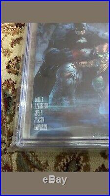 The DARK KNIGHT III THE MASTER RACE #1 CGC 9.8 1500 LEE VARIANT Batman #1/16