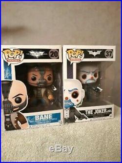The Dark Knight Bank Robber Joker and Bane Funko Pop Movie Grail Bundle