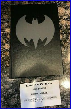 The Dark Knight Batman Frank Miller Signed Limited Edition Hardcover