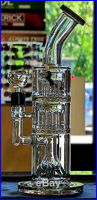 The Dark Knight Hookah Glass Water Pipe Bong 14 Tobacco Fast Shipping