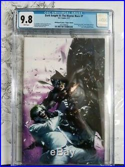 The Dark Knight III Master Race #7 CGC 9.8 Dell'Otto Purple Virgin Variant Rare
