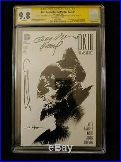 The Dark Knight III The Master Race #1 (Blank Variant Cover) CGC SS 9.8 Awesome