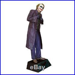 The Dark Knight Joker Heath Ledger Life Size 11 Statue Figure NEW SEALED