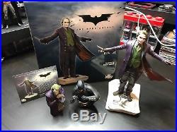 The Dark Knight Joker Statue 4036/6000 & Batman/joker Artist Proof Busts Lot