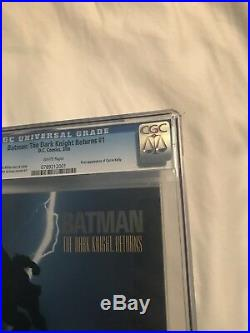 The Dark Knight Returns #1 1st Print CGC 9.6 White Pages Frank Miller Batman