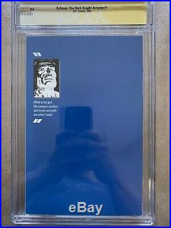 The Dark Knight Returns #1 CGC SS 9.8! Signed And Sketched By Miller And Janson