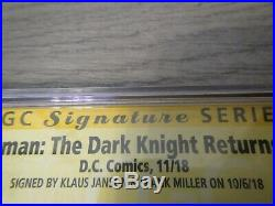 The Dark Knight Returns (Foil) CGC 9.8 Signed by Frank Miller and Klaus Janson
