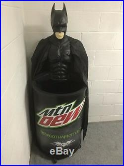 The Dark Knight Rises Batman Mountain Dew Rolling Cooler Topper Store Display