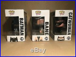 The Dark Knight Rises Funko Pop! Set. RARE AND VAULTED