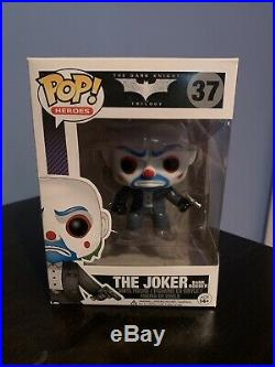 The Dark Knight The Joker Bank Robber Funko Pop #37 RARE! 2013 VAULTED! RETIRED