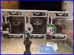 The Dark Knight Trilogy Funko Pop Set Bank Robber Joker Batman And Joker Retired