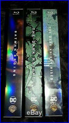 The Dark Knight Trilogy Limited Edition HDZETA Box & Collectables NO STEELBOOK