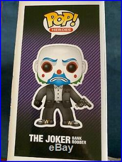 The Joker and Bank Robber Funko Pop Set The Dark Knight Trilogy Exclusive
