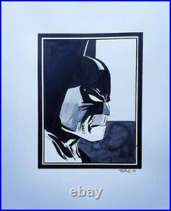 Tim Sale Original Art Batman. 8.5x11 The Dark Knight. Commission. Sketch