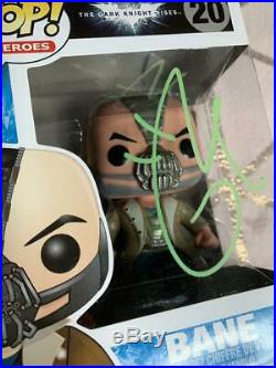 Tom Hardy Signed Funko Pop! Bane, The Dark Knight Rises #20