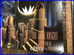 VINTAGE POSTER The Dark Knight Comic Style By Frank Miller 1986 DC Comics Rolled